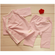 Cropped Pants / Top  ( S-GOTS Milk Pink)