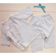 Cropped Pants / Top ( S-GOTS Milk Blue)