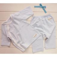 Cropped Pants / Top ( S-GOTS Milk Blue)