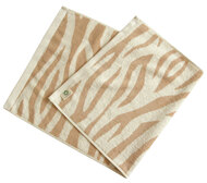 Organic Face Towel (Brown Zebra)
