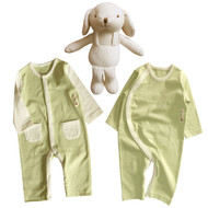 Olive jumpsuits, Puppy doll set ( 3 pack )