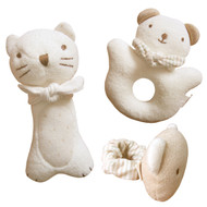 Kitty & Baby Bear Rattle Set(set of 3)