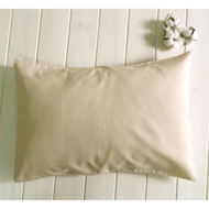 Organic Cotton Toddler Pillowcase for 13 *18 pillow (Cream Beige Premium Envelope Closure )