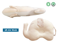 Baby Protective Pillow ✤ (3D Air Mesh) Cream Baby Elephant