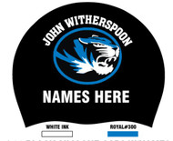 Silicone Team Caps with Swimmer Name- (set of 2) John Witherspoon