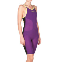 Arena Carbon Air Open Back- Plum/Florescent Yellow- MYM
