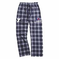 Boxercraft Team Flannel Pants- Navy/White- SAY