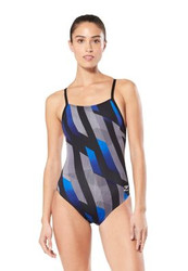 Speedo Pinstripe Flight Women's Flyback- Blue- John Witherspoon