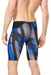 Speedo Pinstripe Flight Men's Jammer- Blue- John Witherspoon