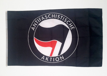 Black ANTIFA flag size 5 feet x 3 feet