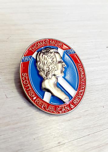 Thomas Muir 3D enamel badge