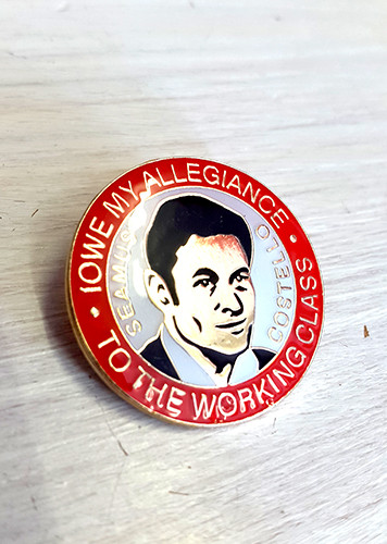 Seamus Costello enamel badge