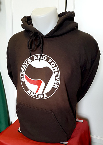 ANTIFA - Always and Forever - Anti-Fascist Hoody (brown)