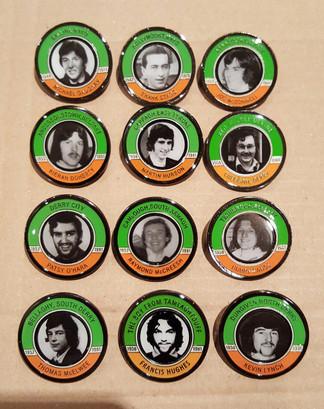 Hunger Strike commeorative badge set