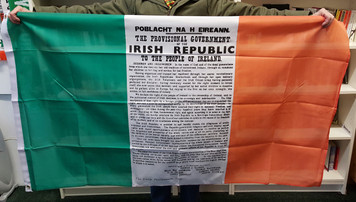 Easter Rising Proclamation Irish Tricolour flag