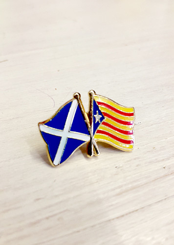Scottish Solidarity with Catalonia Badge