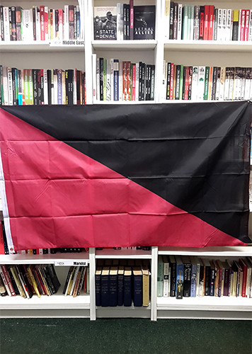 Anarcho-Syndicalist / Anarcho-Communist (Ancom) Flag (red and black) - 5 x 5ft