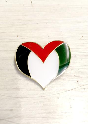 Palestine Heart Enamel Badge