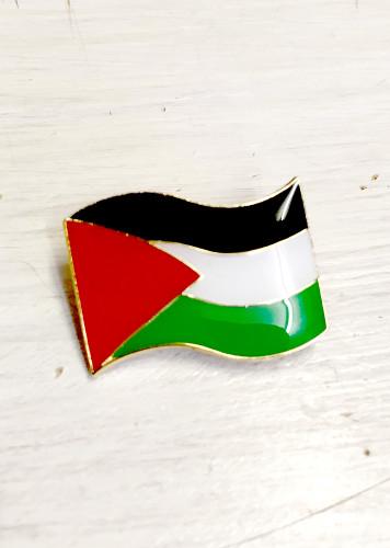 Palestinian Flag enamel badge