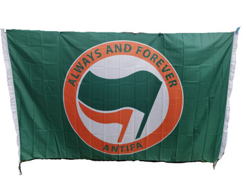 Giant 8 feet x 5 feet ALWAYS AND FOREVER ANTIFA flags