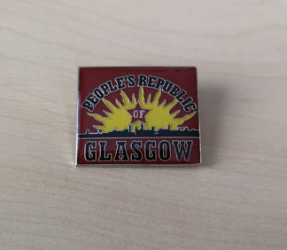 People's Republic of Glasgow enamel badge