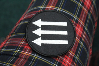 Iron Front 3 arrows Iron on embroidered patch