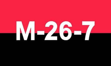 26th July Movement (Cuban) 5 x 3 flag