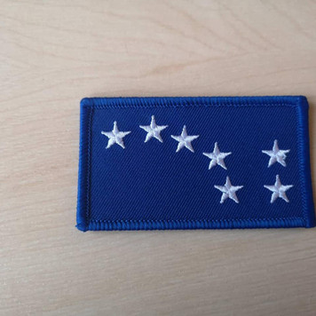 Starry Plough BLUE iron on patch