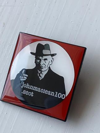 John MacLean 100 enamel badge with brooch