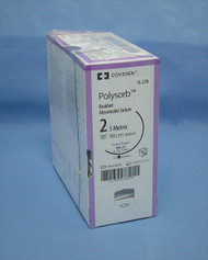 """Covidien CL-270 Polysorb Suture, 2, 36"""", SP-27 Protect Point Needle"""
