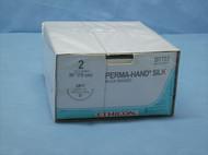 """Ethicon D7703 Perma-Hand Silk Suture, Size 2, 30"""", CP-1"""