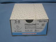"Ethicon Suture, Prolene 8675H, 3-0, 30"", FSL Reverse Cutting Needle"
