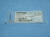 Synthes 421.306 Plate, 1.3mm, Titanium, Straight, 6 Hole, Hand Surgery