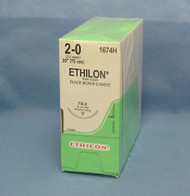 "Ethicon 1674H, Ethilon Suture, 2-0, 30"", FSLX needle"