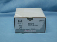 """Ethicon Z149H PDS II Suture, 6-0, 30"""", RB-2 Taper Needle, Double Armed"""