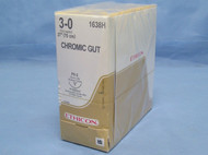 "Ethicon 1638H Chromic Gut Suture, 3-0, 27"", PS-2 Reverse Cutting Needle"
