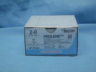 "Ethicon 8623H Prolene Suture, 2-0, 30"", KS Straight Reverse Cutting Needle"