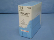 "Ethicon P8522, Prolene Suture, 3-0, 36"", SH Taper Needle, Double Armed"