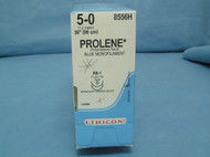 "Ethicon 8556H Prolene Suture, 5-0, 36"", RB-1 taper double armed needle"