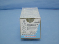 "Ethicon 8699G Prolene Suture, 4-0, 18"", P-3 reverse cutting needle"