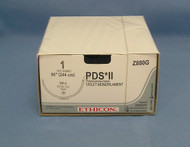 """Ethicon Z880G PDS Suture, 1, 96"""" looped to 48"""", TP-1 Taper Needle"""