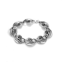 Calla Lily Art Nouveau Sterling Silver Bracelet