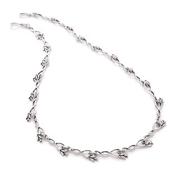 Silver Hibiscus One Flower Bud Necklace