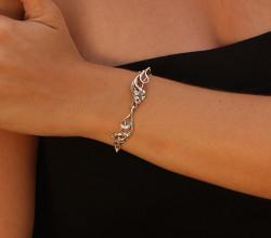 Silver Hawaiian Lily Bracelet