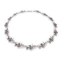 Silver Wildflower Necklace