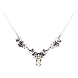 Two Link Wildflower Necklace with a 3 Carat Gemstone