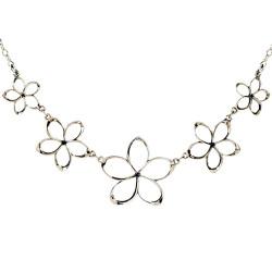 Plumeria Pua Melia Plumeria Necklace with Five Graduated Flowers