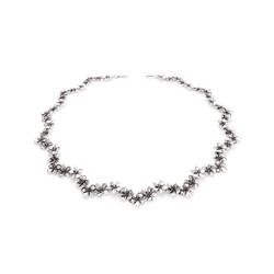 Silver Plumeria Necklace