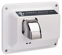 Recessed - Automatic Sensor - White Epoxy Painted - Hand Dryer (R76-IW)