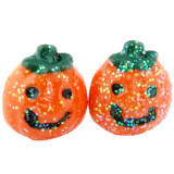 Mini Glitter Pumpkin Earrings